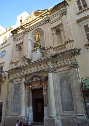 Church of Saint Barbara, Valletta - Image: Church of St Barbara, Valletta