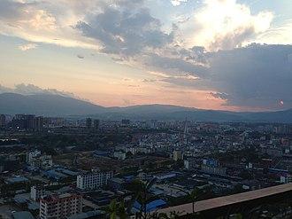 Jinghong - Image: City of Jinghong, Yunnan, China in 2015