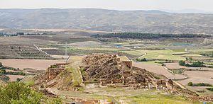 Bilbilis (Augusta Bilbilis) - Wall and remains of buildings.