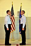 Civil Air Patrol Col. Mark Smith, New Mexico Wing CAP commander, relieves 1st Lt. David O'Leary of command of the CAP Clovis High Plains Composite Squadron.jpg