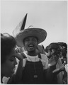 Civil Rights March on Washington, D.C.(Marcher wearing a straw hat.) - NARA - 541996.tif