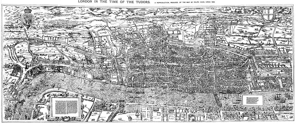 Civitas Londinium or The Agas Map of London