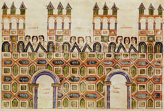 Toledo, Spain - A depiction of the Visigothic Toledo compiled in the 10th century Codex Vigilanus.