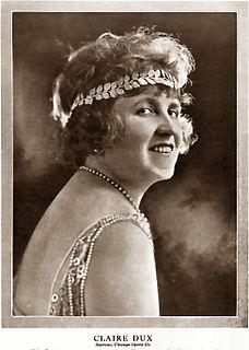 Claire Dux Operatic soprano