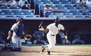 Claudell Washington - Washington with the Yankees in August 1988