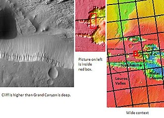Chasma - Image: Cliff in Candor Chasma