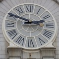 Clock at the Old Post Office Building located on Pennsylvania Avenue in Washington, D.C LCCN2013634622.tif