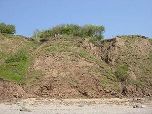Dee Cliffs - Image: Coastal Erosion, Thurstaston geograph.org.uk 645594