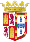 Coat of Arms of Isabella of Portugal, Queen Consort of Castile.svg