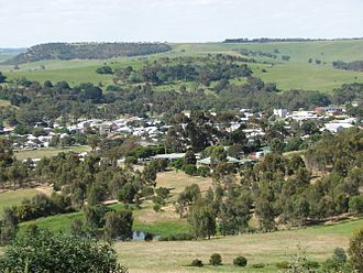 Coleraine, Victoria - View of town from Peter Francis Points Arboretum