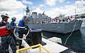 Colombian navy ARC Narino arrives for Pearl Harbor port visit 140904-N-QG393-015.jpg