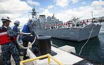 Colombian navy ARC Narino arrives for Pearl Harbor port visit 140904-N-QG393-015.jpg