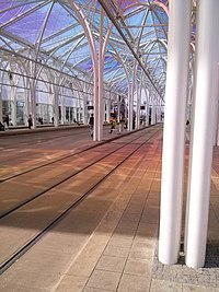 Colored spots under the roof, Transfer station Piotrkowska-Centrum.jpg