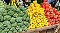 Colourful vegetables Mumbai market.jpg