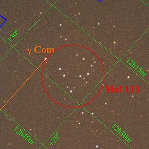 Coma Star Cluster - Image: Comastarcluster 2