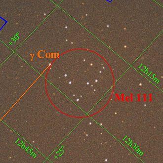 Coma Star Cluster - Image: Comastarcluster 2