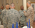 Command Sgt. Maj. Joseph R. Allen, the Command Sergeant Major of United States Forces - Iraq (USF-I) attends a dinner for Senior Non-Commissioned Officers (SNCO) assigned to USF-I, Office of Security 111023-A-RC249-039.jpg