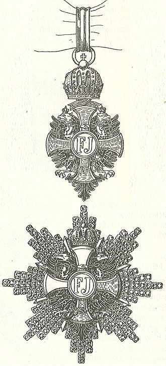 Maximilian Gritzner - Drawing of the Order of Franz Joseph, by  Maximilian Gritzner