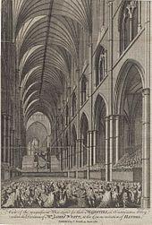 Händel-Gedächtnisfeier in der Westminster Abbey, 1784 (Quelle: Wikimedia)