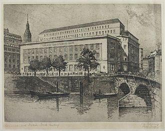 Commerzbank - Commerz- und Disconto-Bank, Hamburg, 1874.