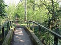 Concrete footbridge - the public footpath to Hauxton Church - geograph.org.uk - 768492.jpg