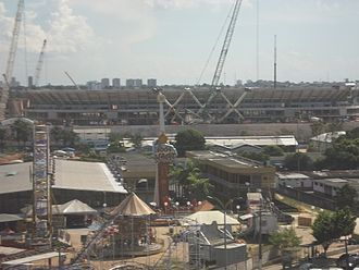 Arena da Amazônia - The stadium under construction in 2013.