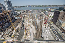 Construction of a future Gateway Program tunnel portal at West Side Yard in Manhattan