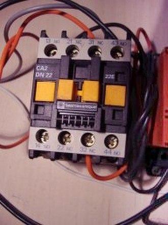 Contactor - AC contactor for pump application.