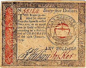 Continental Currency $65 banknote obverse (January 14, 1779).jpg