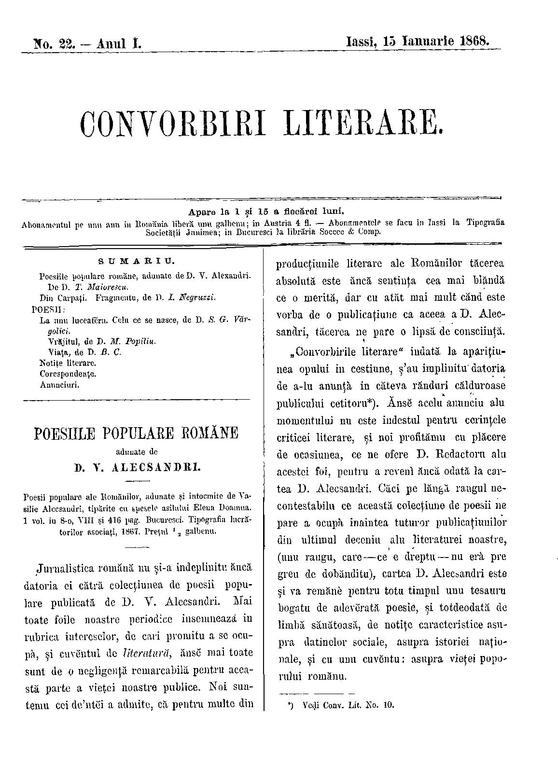 Fileconvorbiri Literare 1868 01 15 Nr 22pdf Wikimedia Commons
