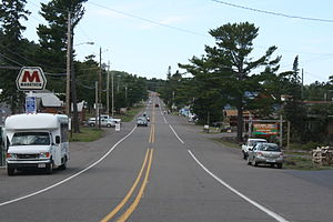 Copper Harbor, Michigan - Image: Copper Harbor Michigan Downtown 2US41