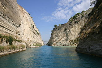 Corinth - View of the Corinth Canal.