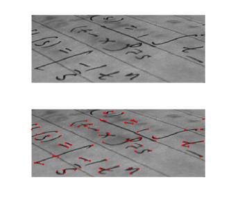 Corner detection - Output of a typical corner detection algorithm
