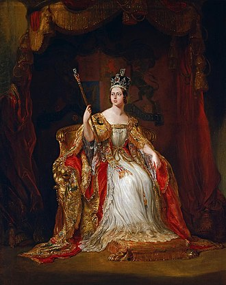 Coronation of Queen Victoria - Sir George Hayter's coronation portrait of the Queen