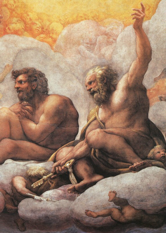 Correggio - The Apostles Peter and Paul, detail of cupola fresco - WGA05317