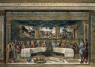 Last Supper (Rosselli) - Image: Cosimo Rosselli Ultima cena