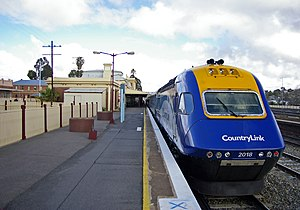 Junee - Junee railway station with a CountryLink XPT at the platform