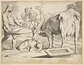 Country Scene with a Peasant, Cow and Calf MET DP822436.jpg
