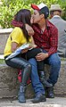 Couple kissing in Alameda Central, Mexico City.jpg