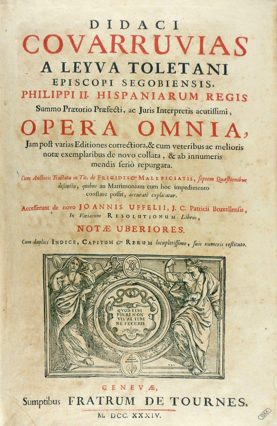 Covarrubias - Opera omnia, 1734 - 124