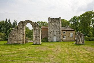 Thomas Dummer - The Castle, Cranbury Park. Built from fragments of the north transept of Netley Abbey moved to Cranbury Park in the 1760s.