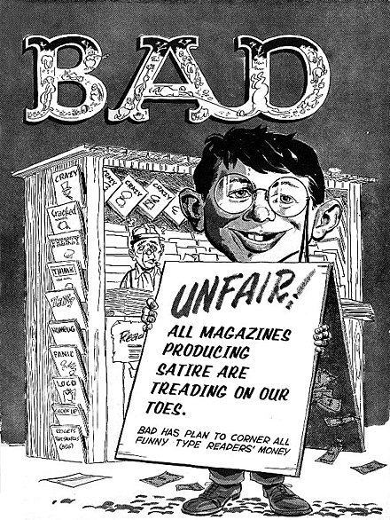 Alfred E. Neuman has become so closely associated with Mad that the image has even been used to parody the long-running satire magazine itself. Crazy44.jpg