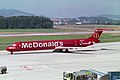 "Crossair McDonnell Douglas MD-83 (DC-9-83) HB-IUH ""McDonald's"" livery (24344007209).jpg"