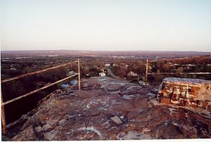 Pinnacle Rock (Connecticut) - Summit of Pinnacle Rock; remains of Nike missile base lookout