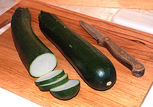 Squash, summer, zucchini, includes skin