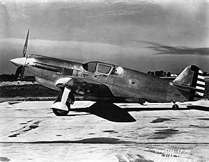Curtiss XP-46 - XP-46 side view