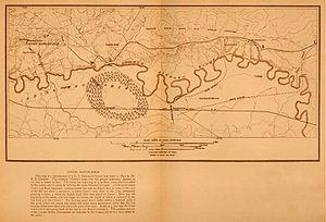 Custer's route over Little Bighorn battlefield
