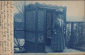 Cyanotype - Cyanotype postcard, Racine, Wis., c. 1910