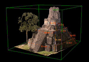 CyArk - 3-dimensional projection of Tikal Temple II