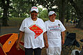 DC Statehood supporters - Two women in white t-shirts - 50th Anniversary of the March on Washington for Jobs and Freedom.jpg